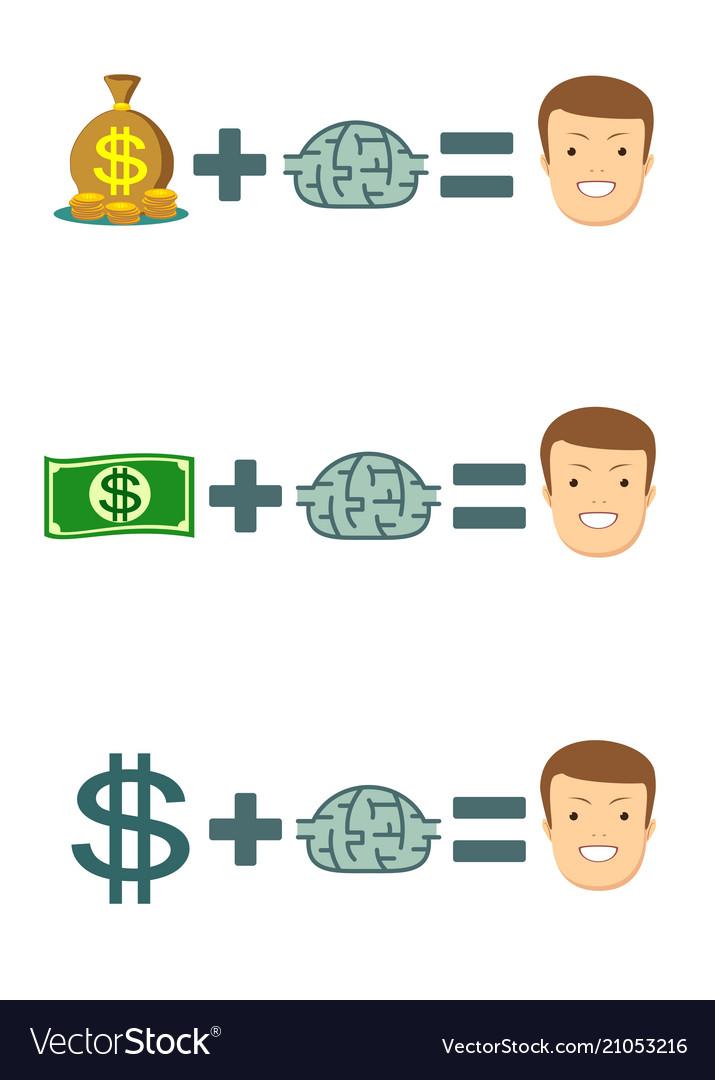 Human brain and money