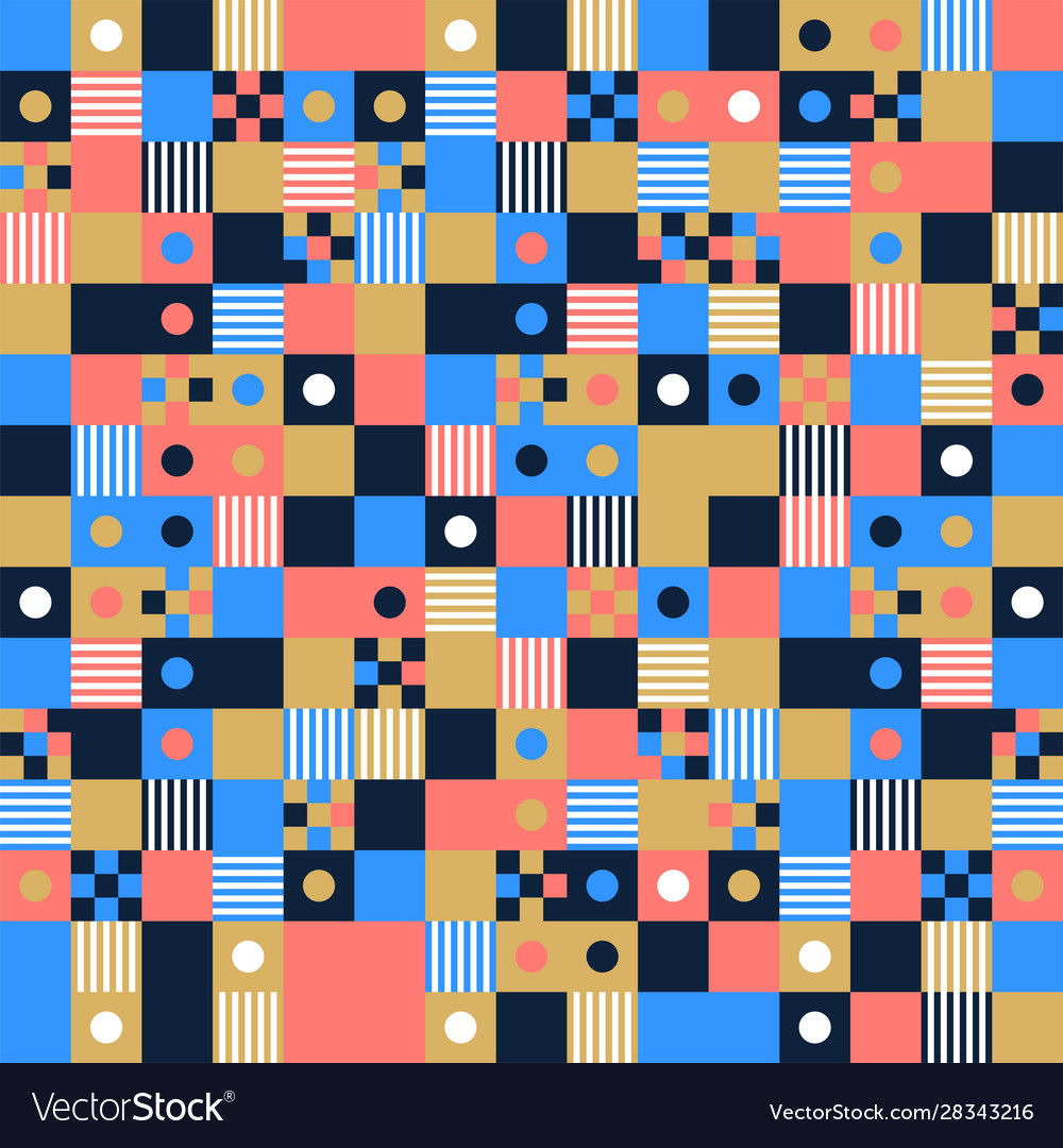 Seamless pattern background design modern square