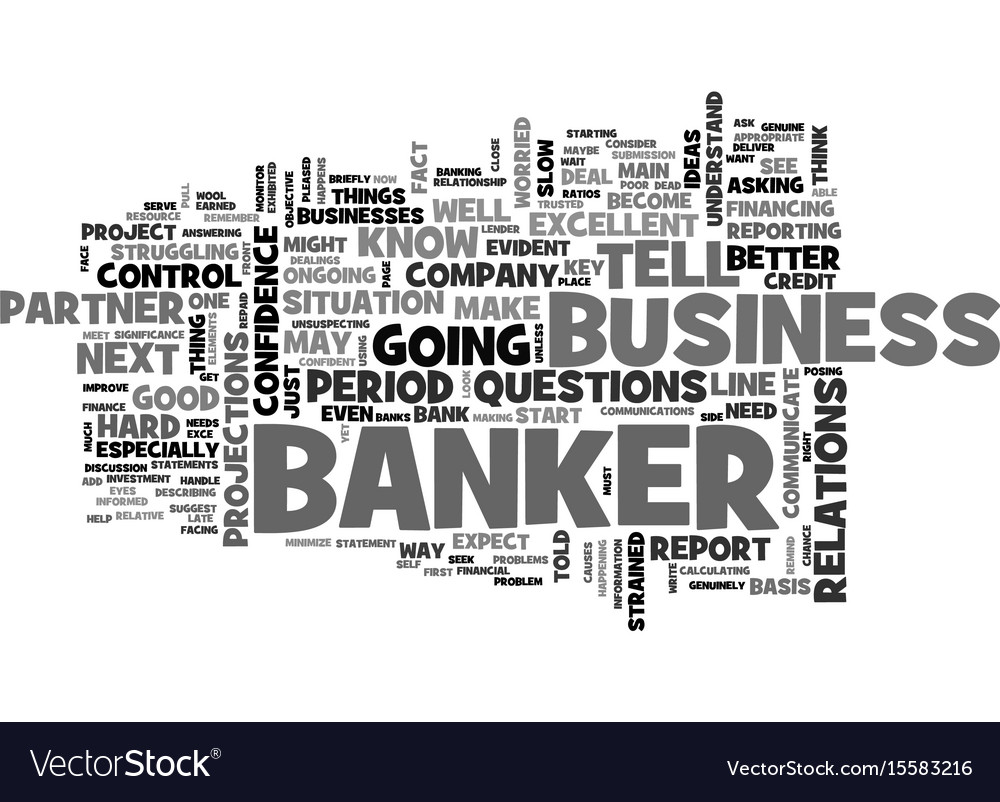 Why banks are your best partner in business text