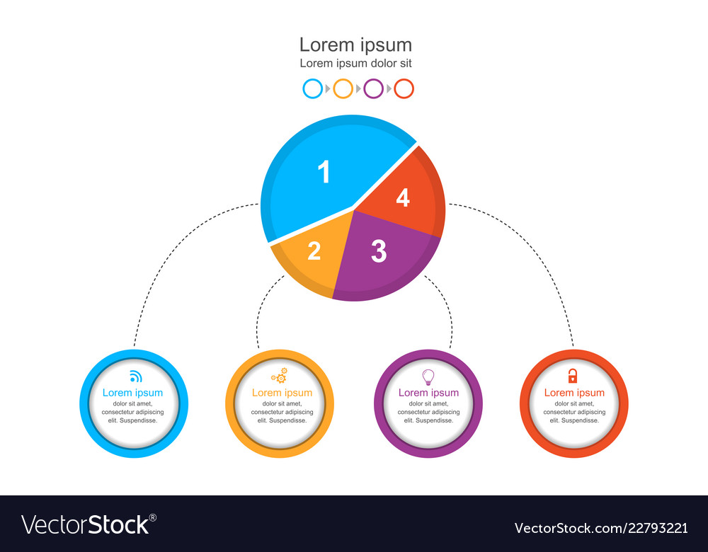 Abstract infographics template colorful circle