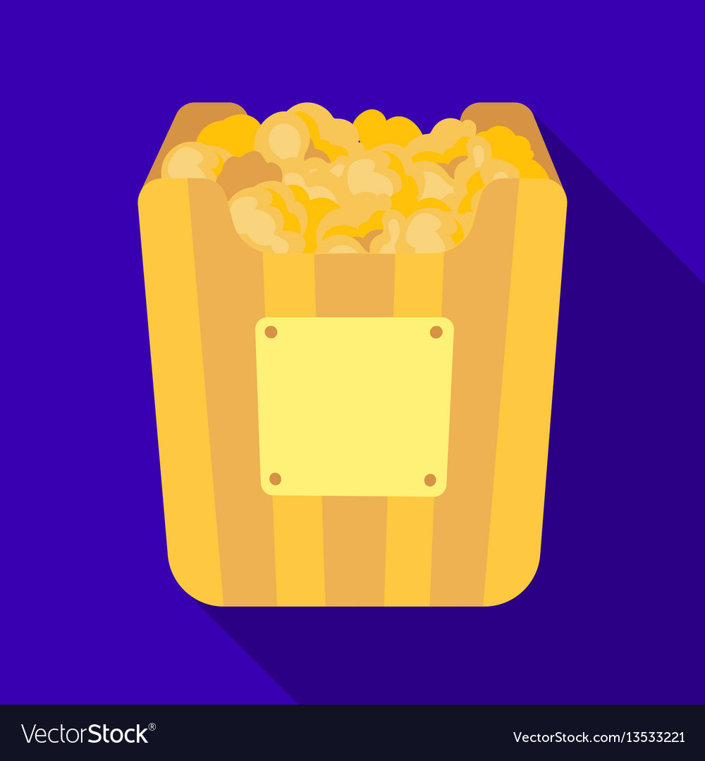 Cup in the form of golden popcornthe prize of