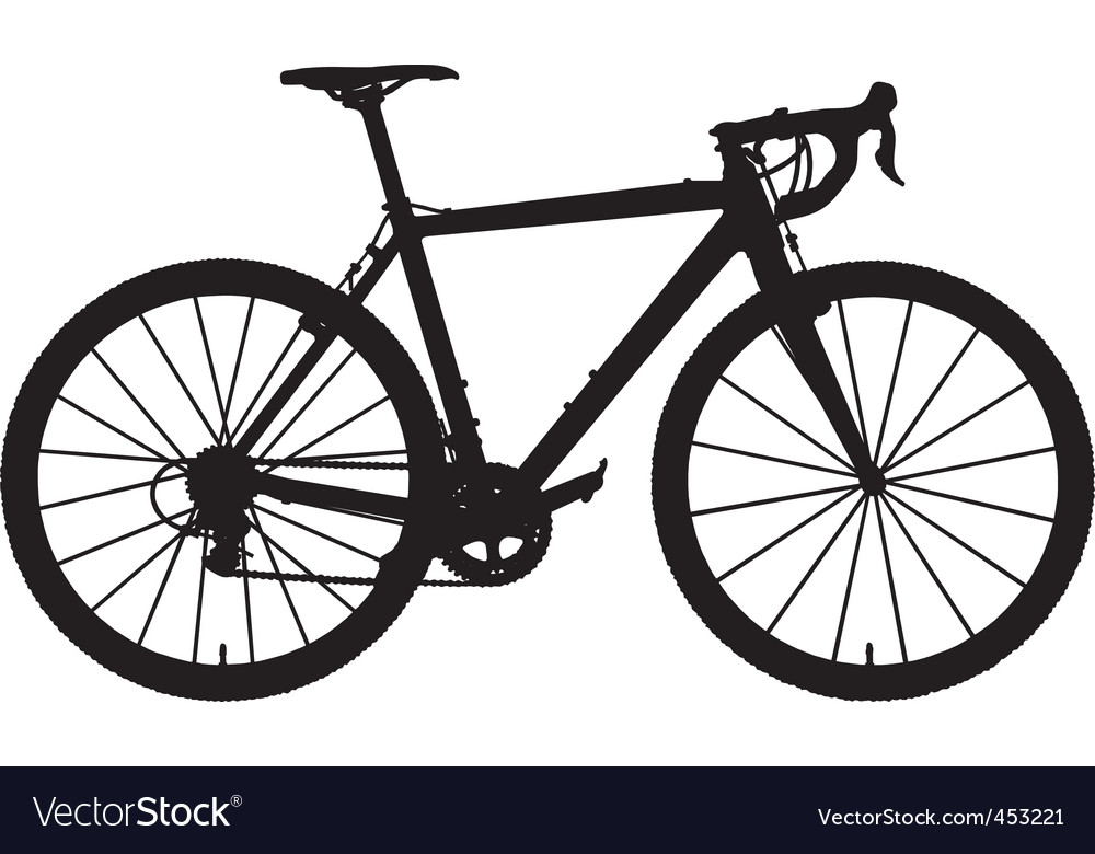 cyclocross bicycle royalty free vector image vectorstock rh vectorstock com bicycle vector free download bicycle vector cena