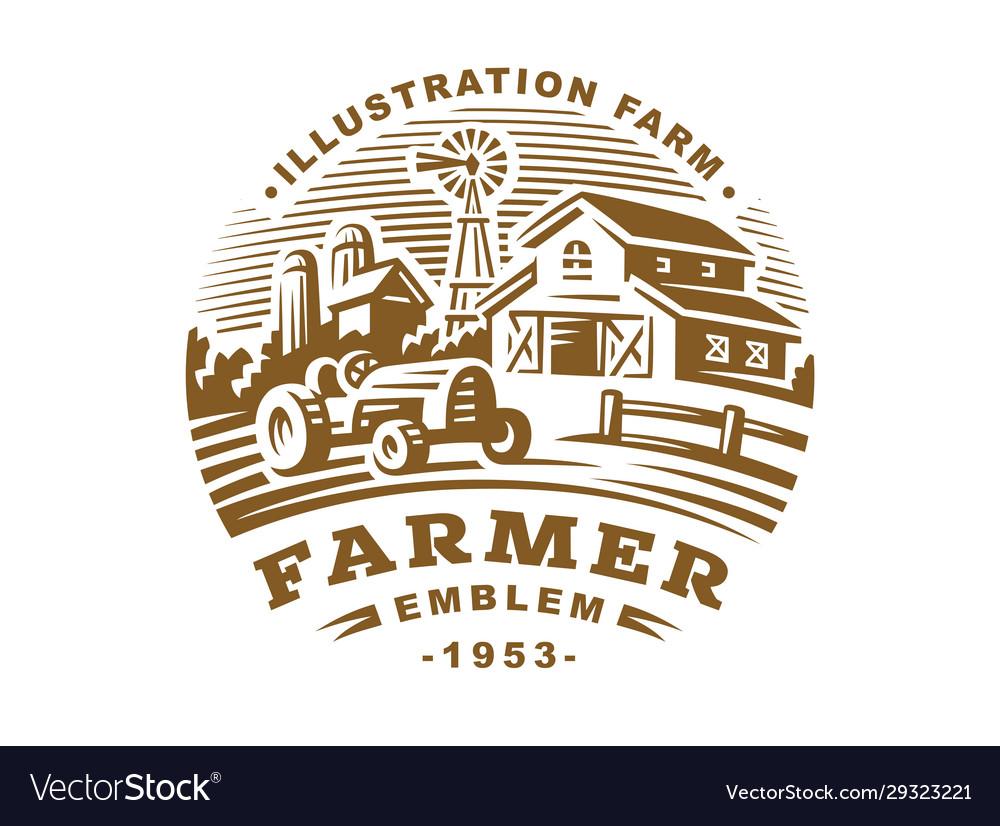 Farm logo in vintage style