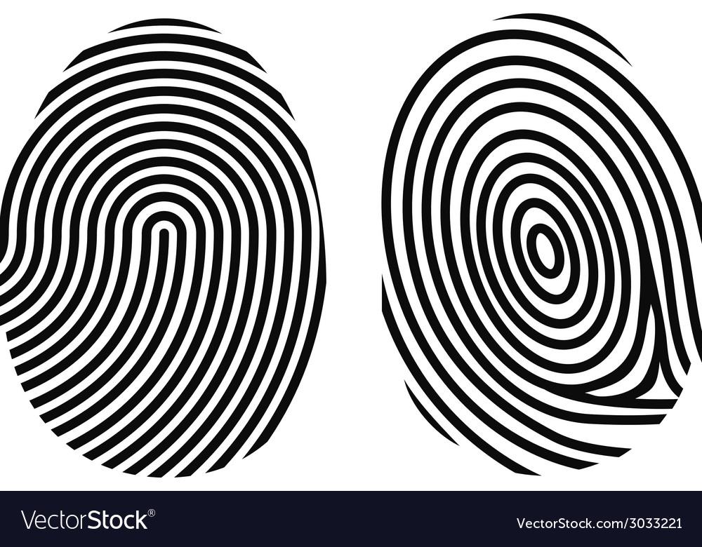 Fingerprint on white vector image