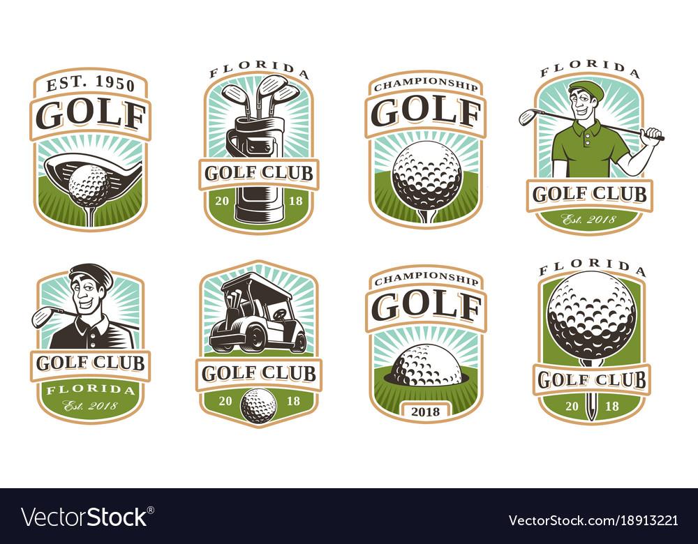 Golf set 12 logos
