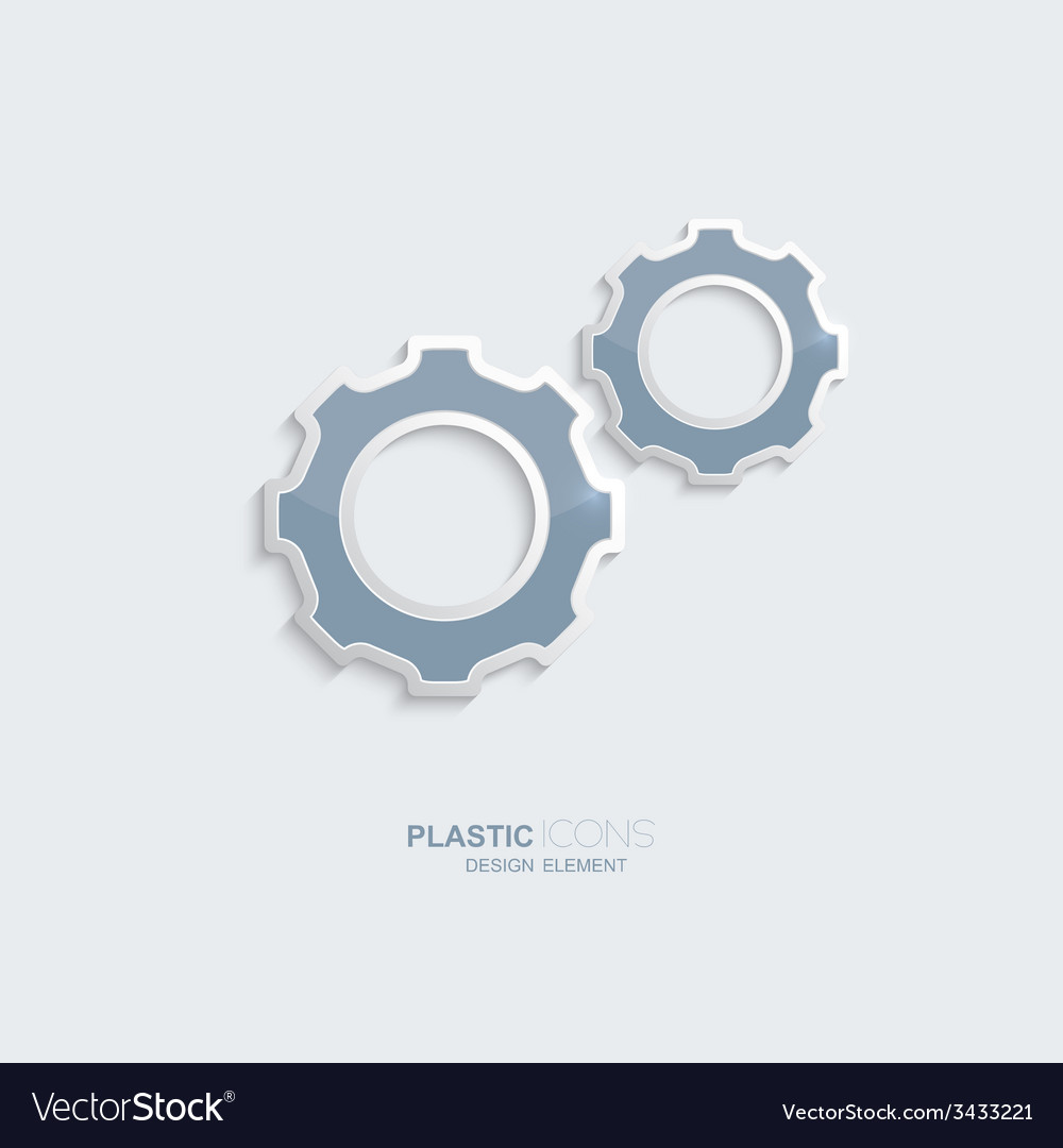 Plastic icon setting symbol