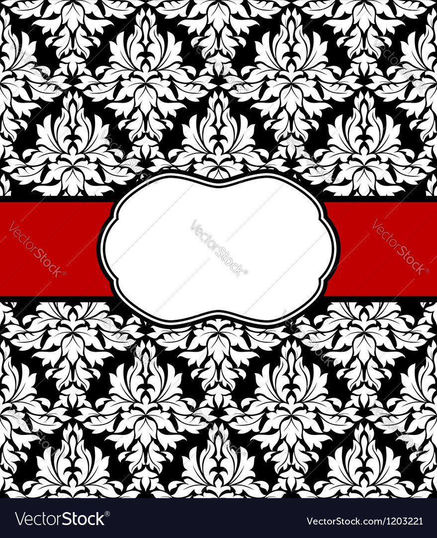 Seamless background with elegant frame