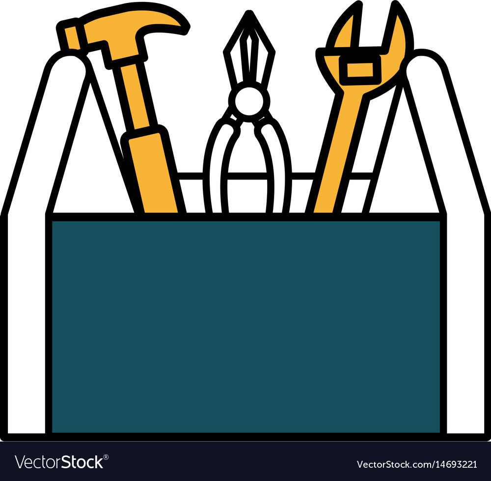Tools box construction tool isolated icon