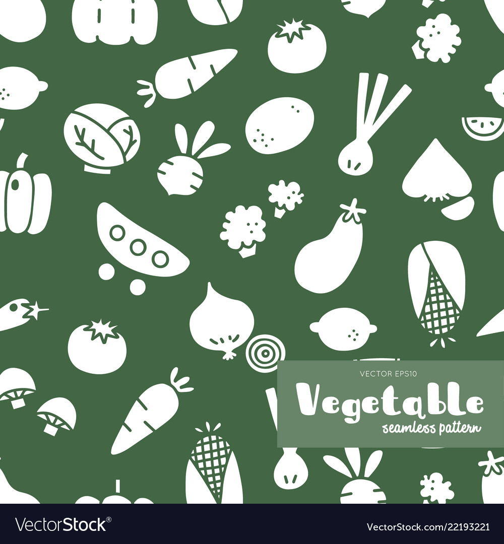 Vegetable hand draw seamless pattern