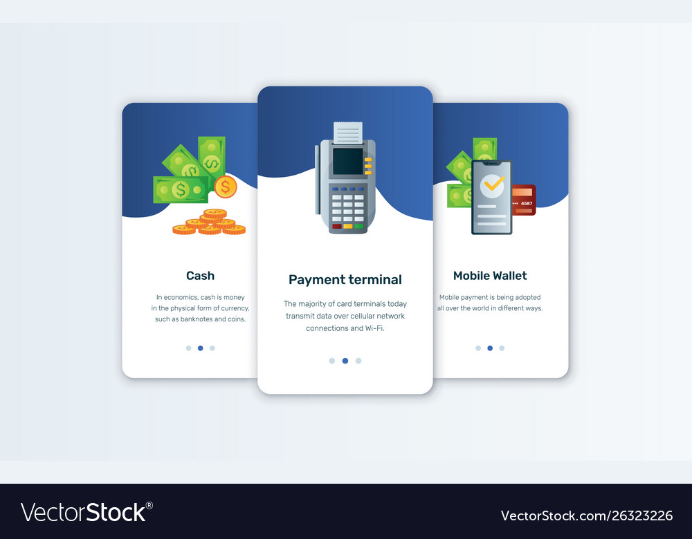 Cash app and mobile wallet concepts