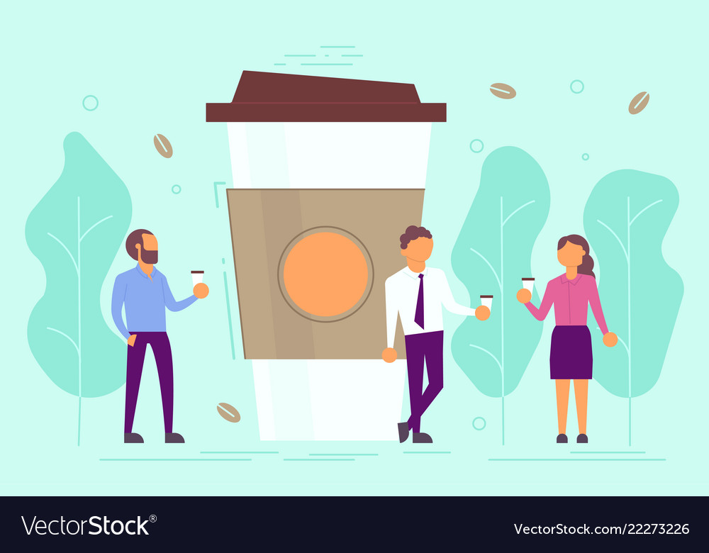 Coffee break concept in flat