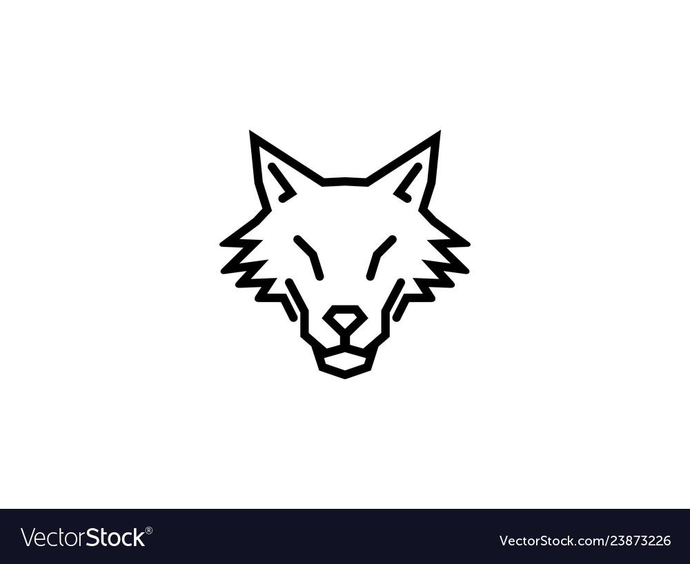 Creative abstract wolf logo