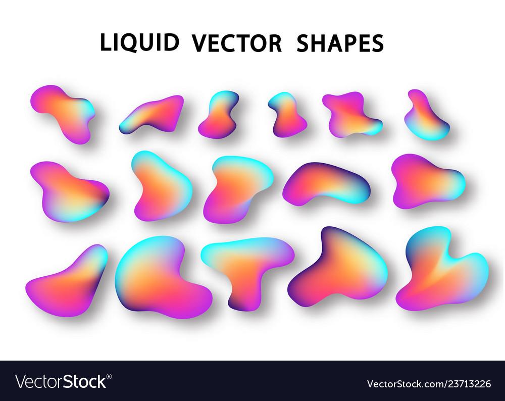 Fluid shape layout isolated template fluid