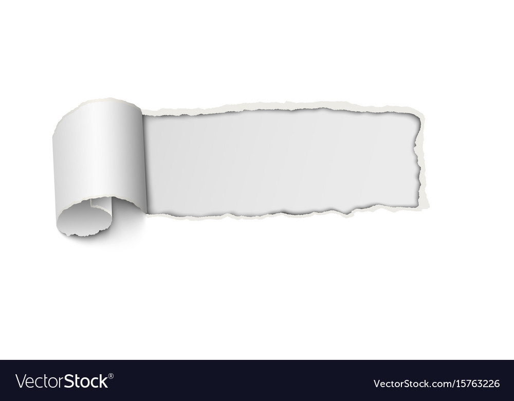 Frame hole with ragged edges from tear of paper Vector Image