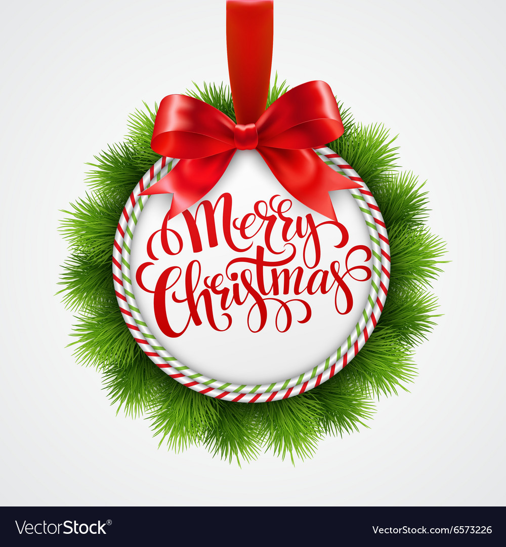 Holiday round frame Christmas balls Royalty Free Vector