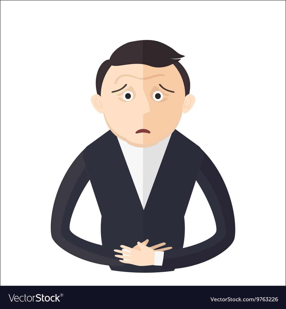 Man having an abdominal pain vector image