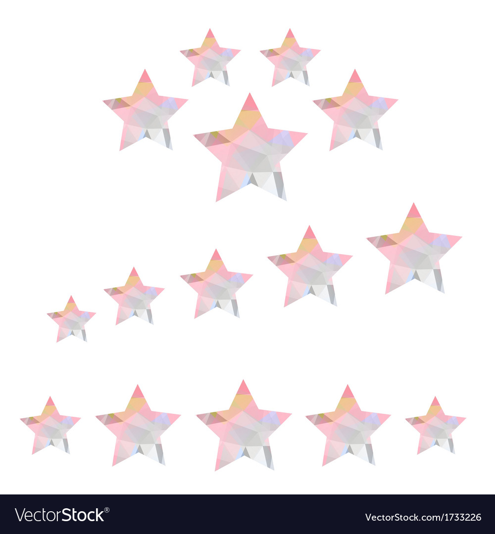 Star geometry of triangles on a white background