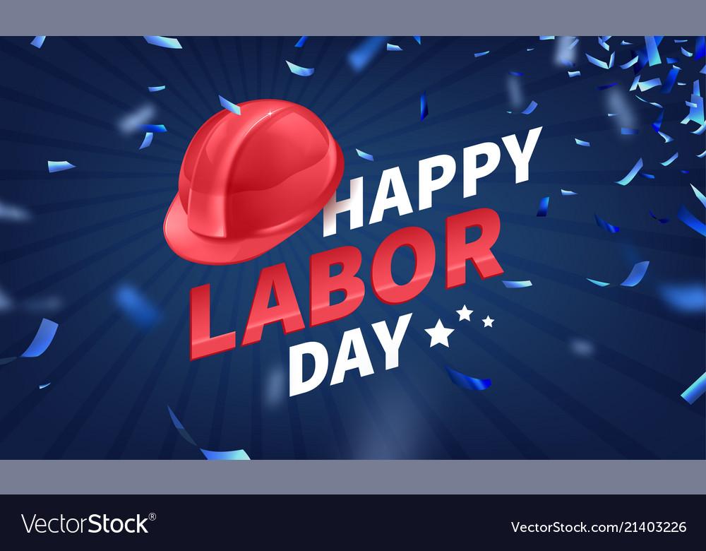 Stock happy labor day text