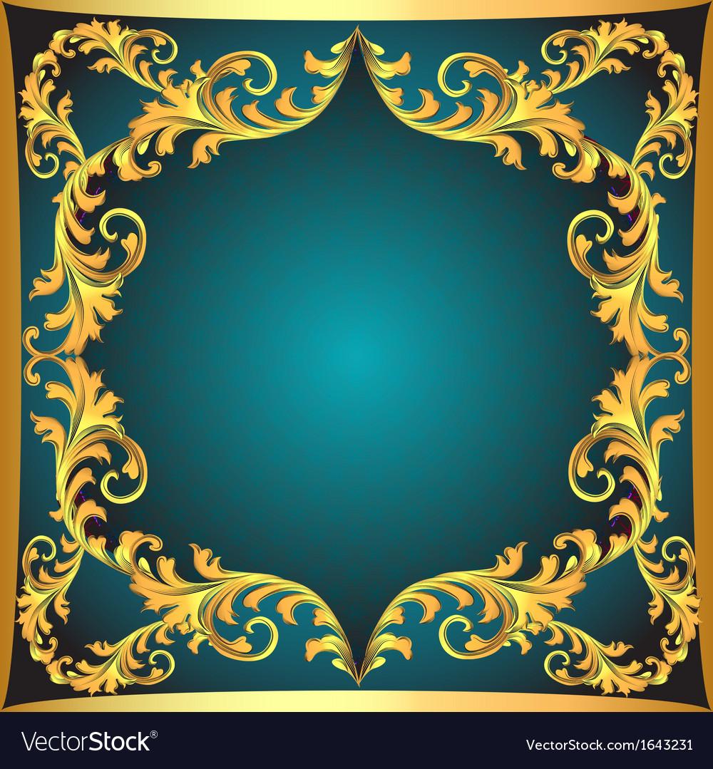 Blue background a frame