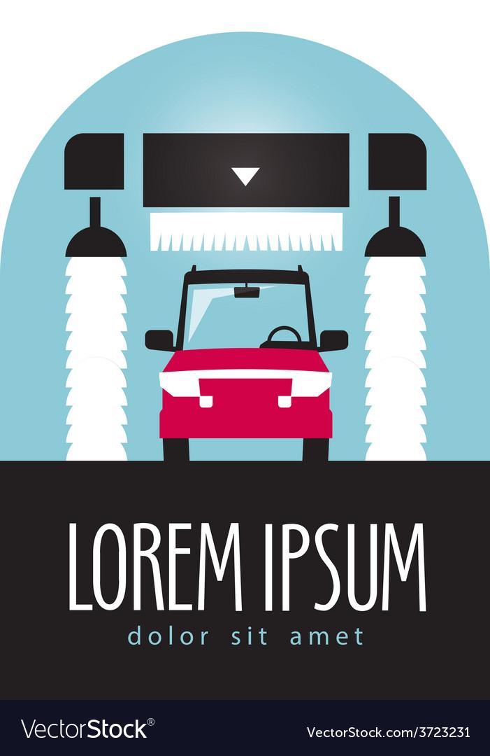 car wash logo design template transport or vector image