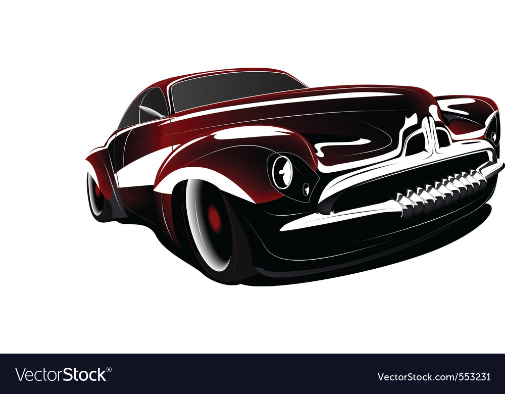 classic car royalty free vector image vectorstock rh vectorstock com classic car vector clipart free classic car vector logos