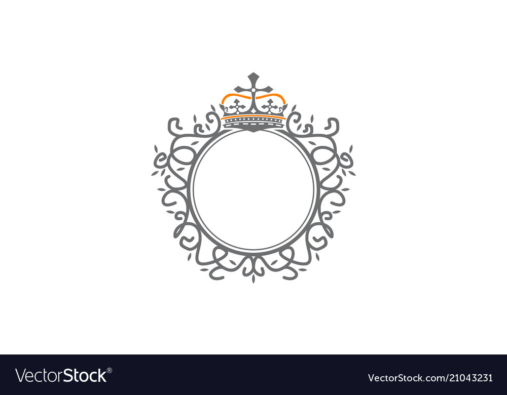 Crown leaf logo design template vector image