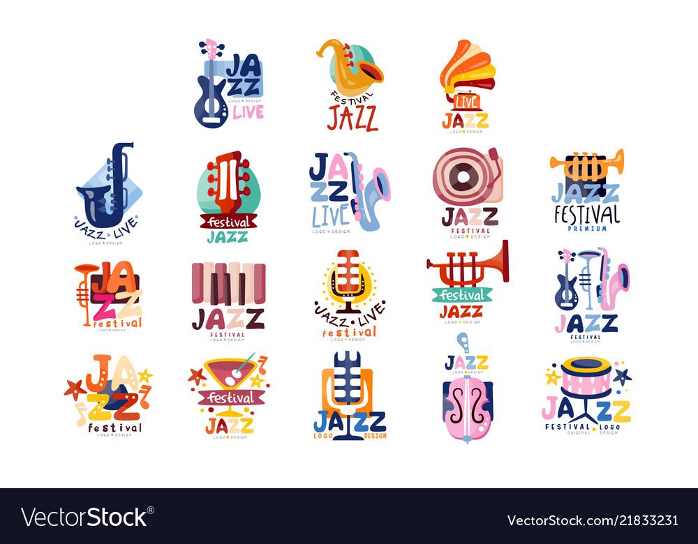 Logos set for jazz festival or live concert
