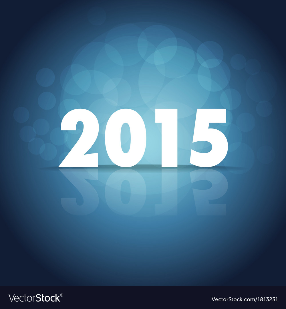 New Year 2015 vector image