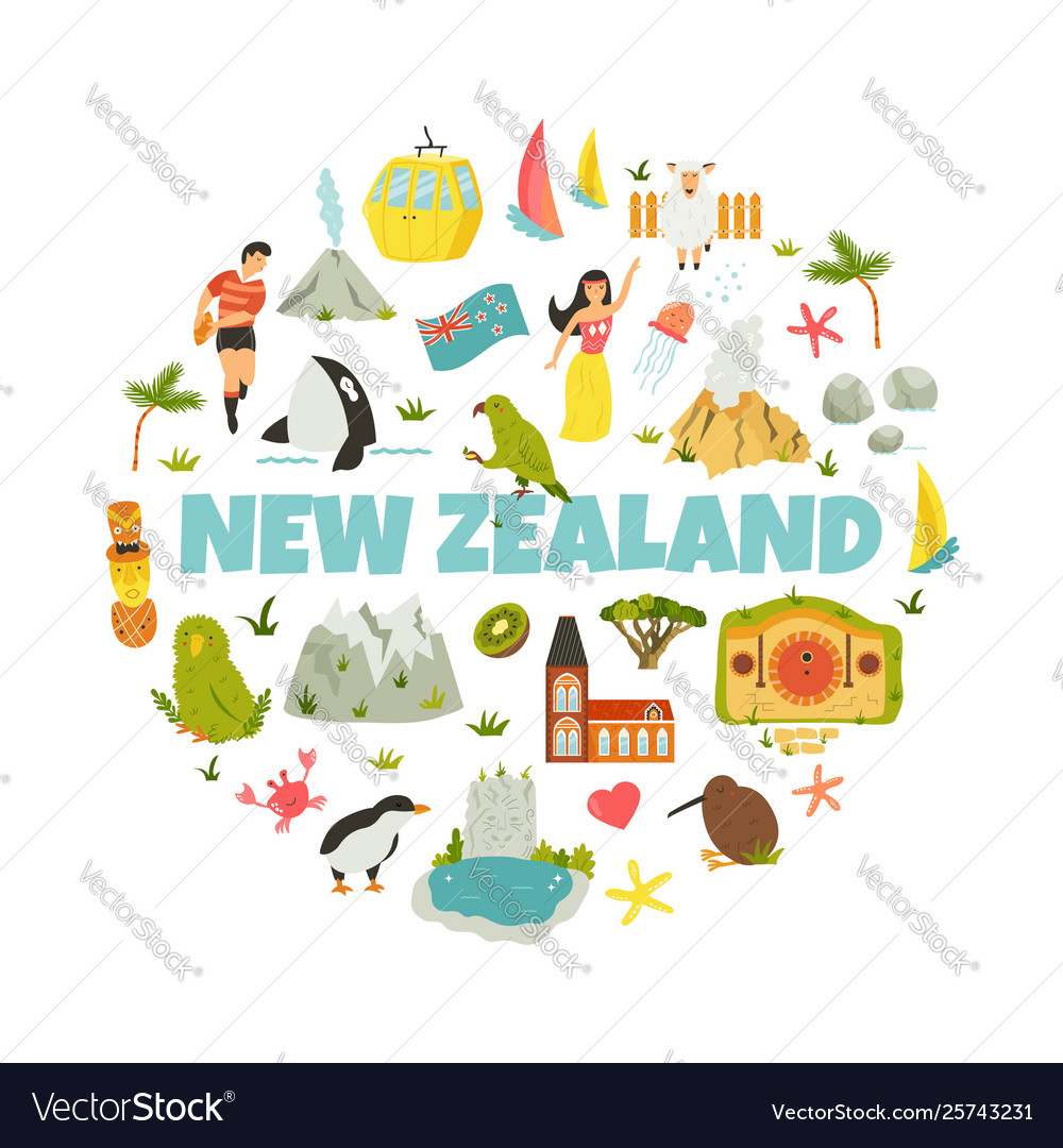 Design With National Symbols Vector Image