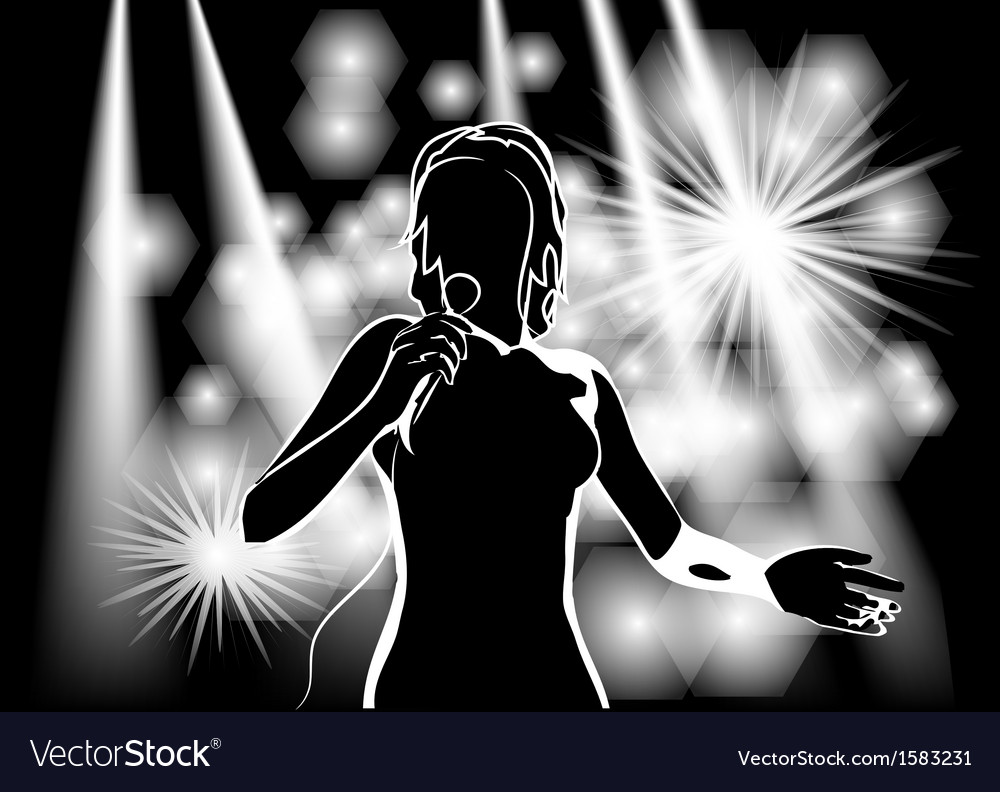 Singer on stage vector image