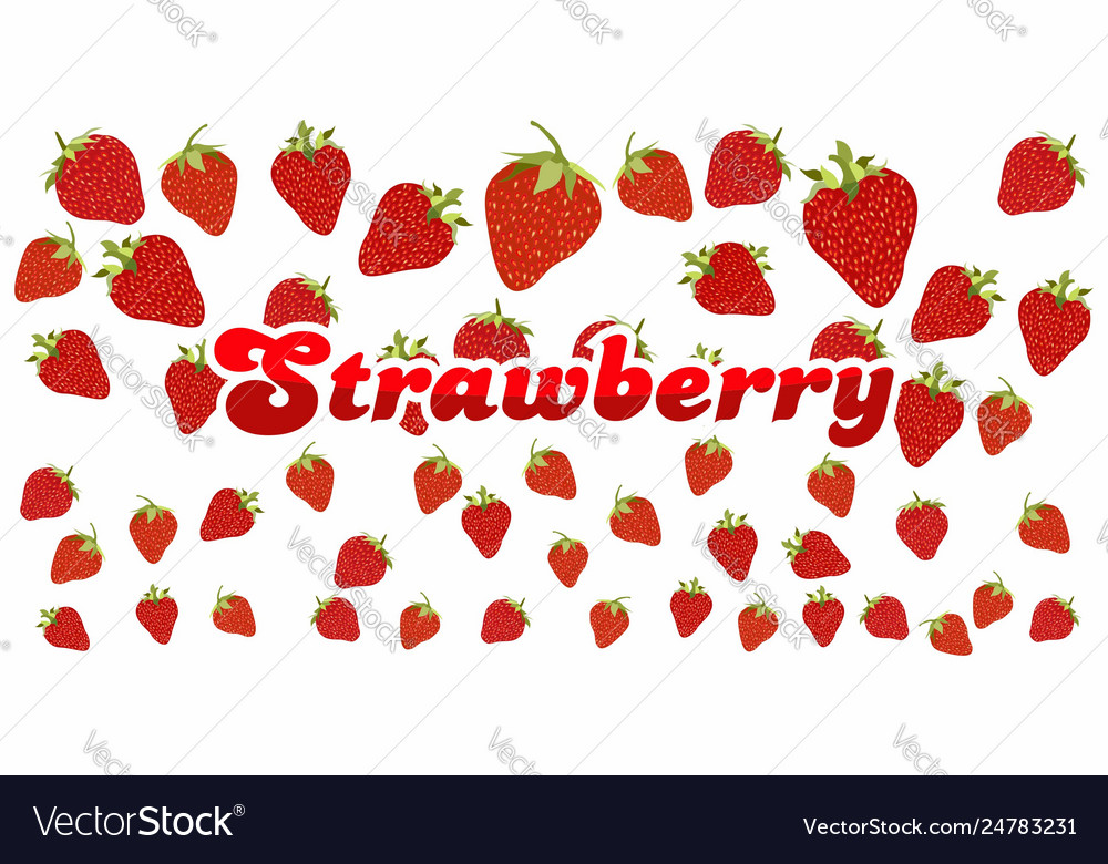 Strawberry pattern on white background