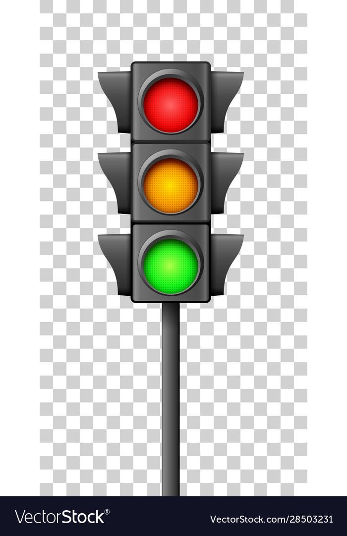 Street traffic light icon lamp traffic light