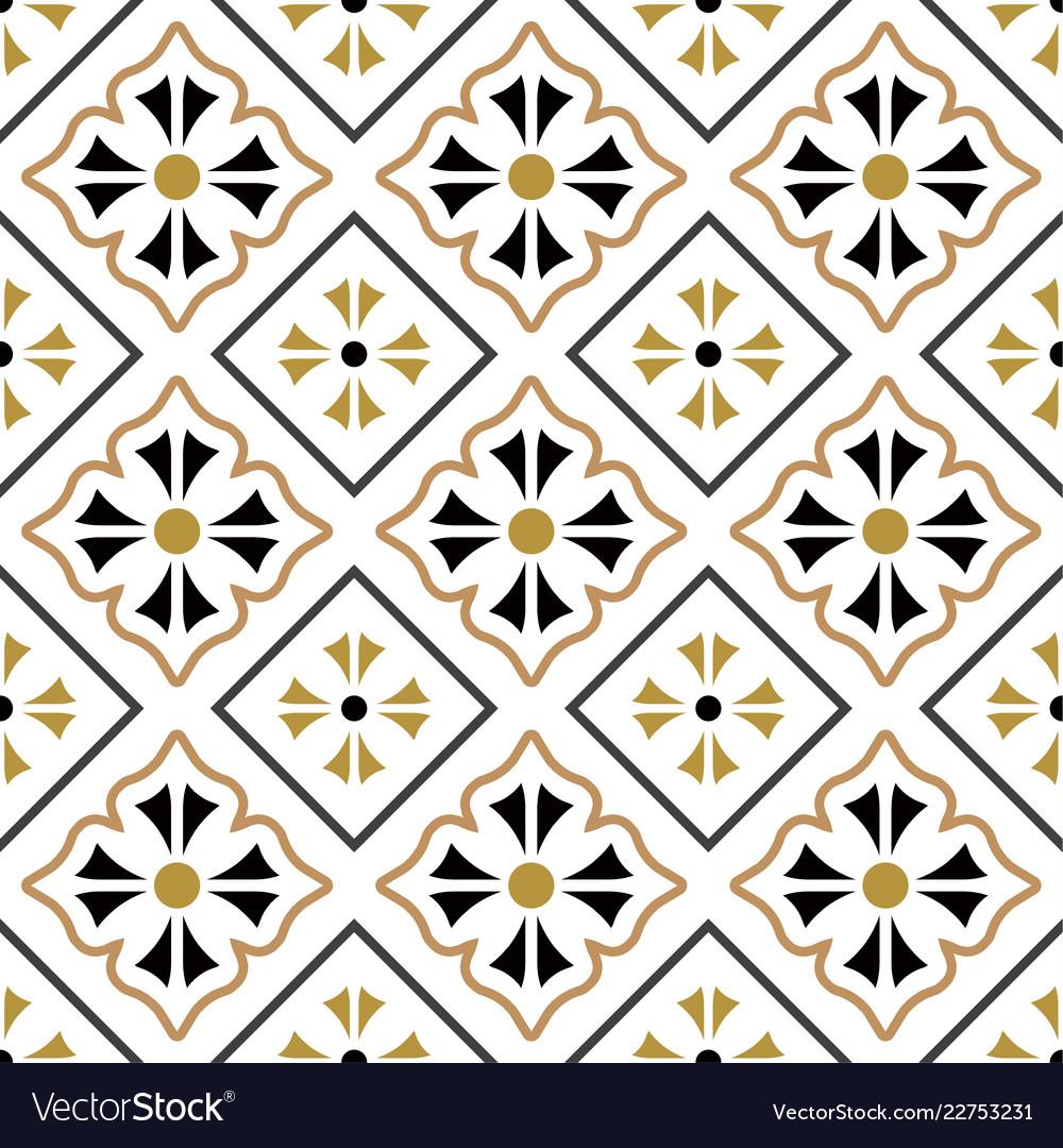 Tile Pattern Seamless Design Royalty