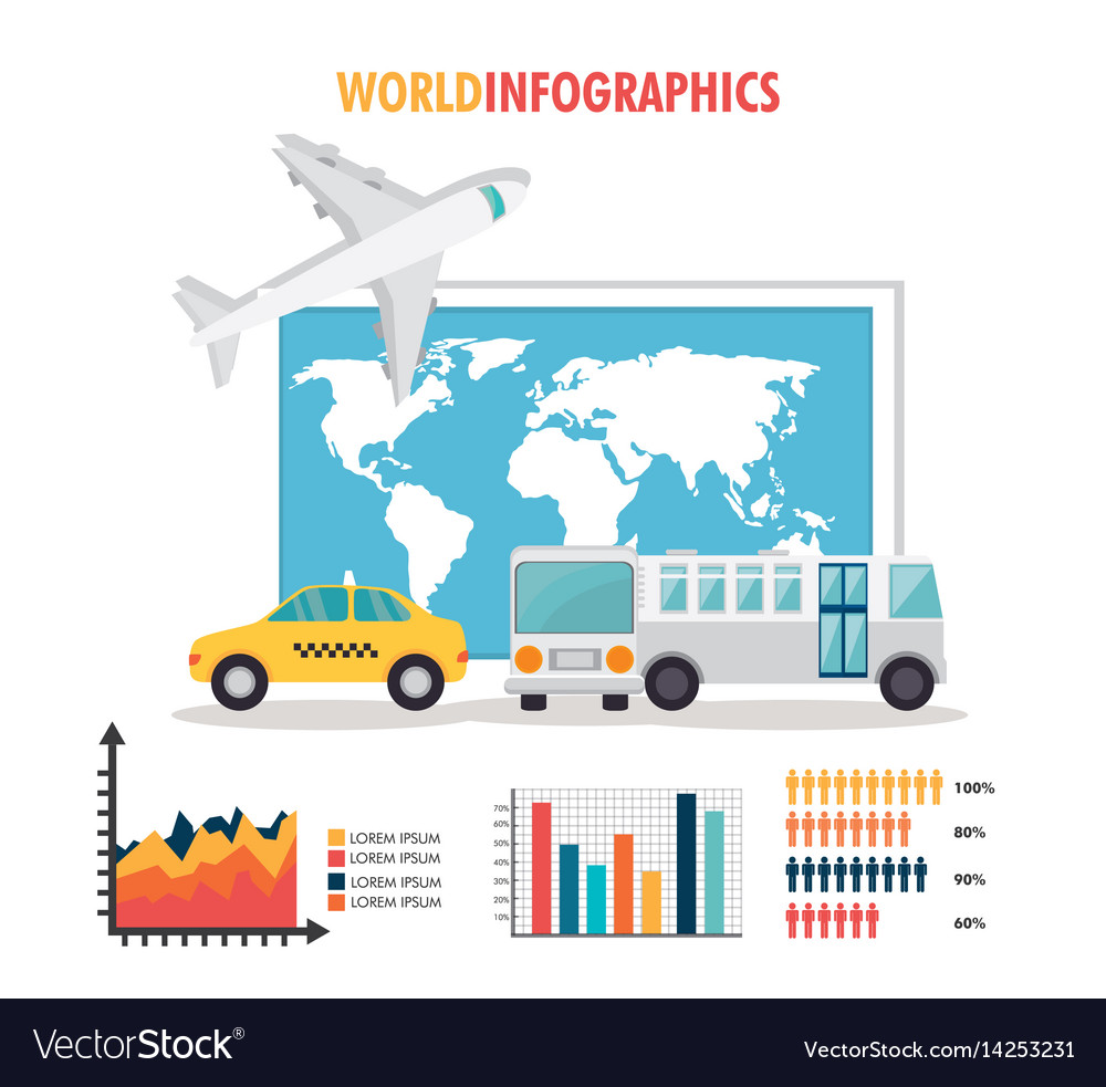 Travel around world infographics