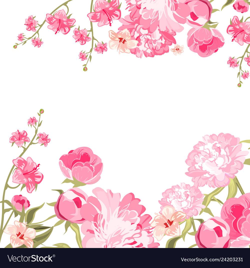 Vintage flower card