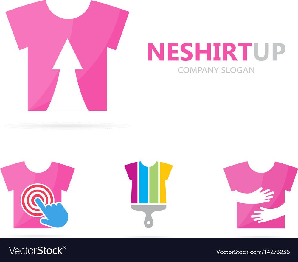 Cloth and arrow up logo combination vector image
