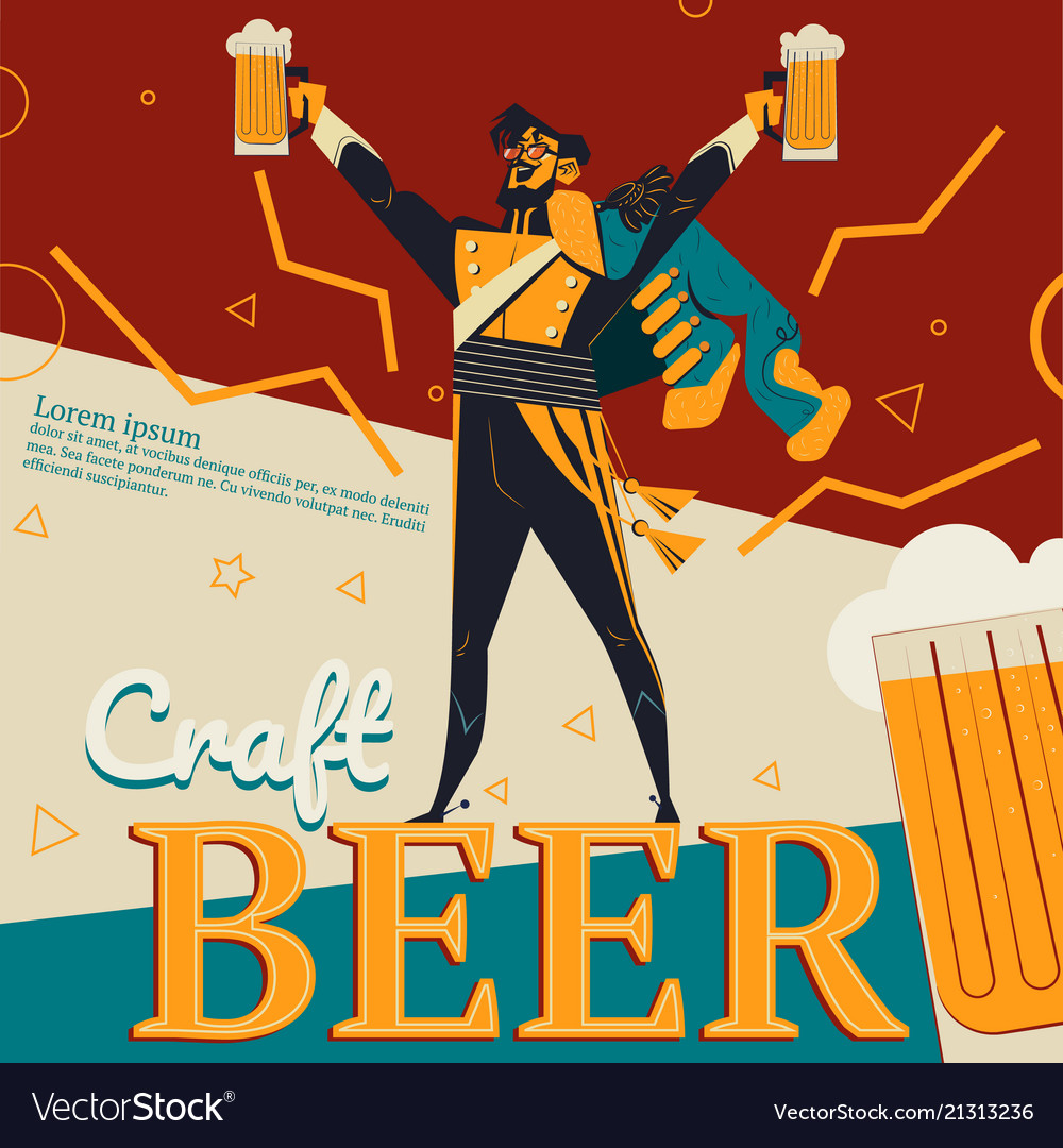 Craft beer and revolution soldier