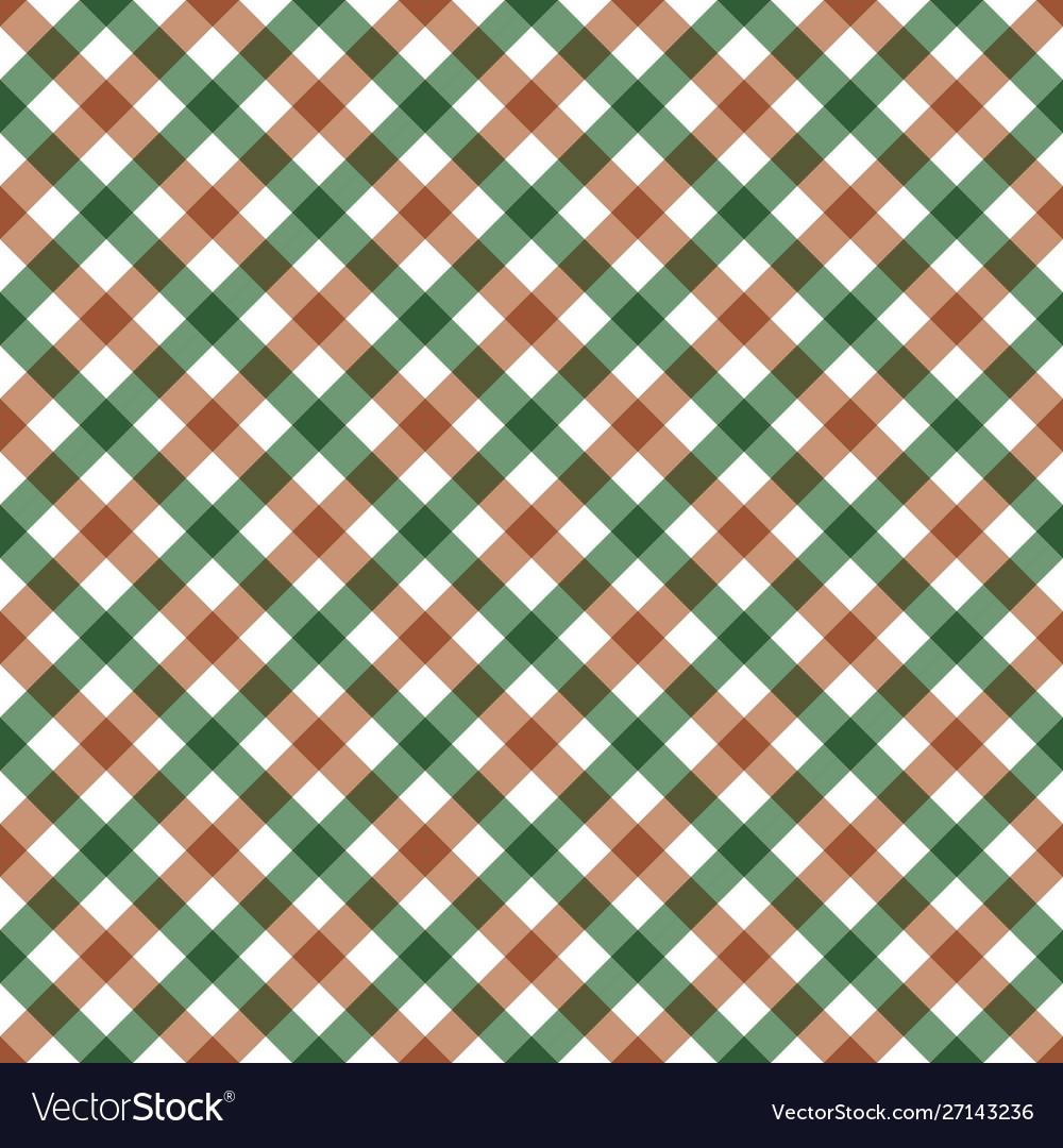 Diagonal checkered plaid seamless pattern
