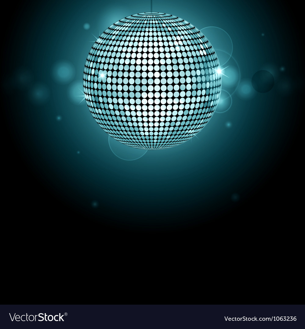 Disco ball background glowing