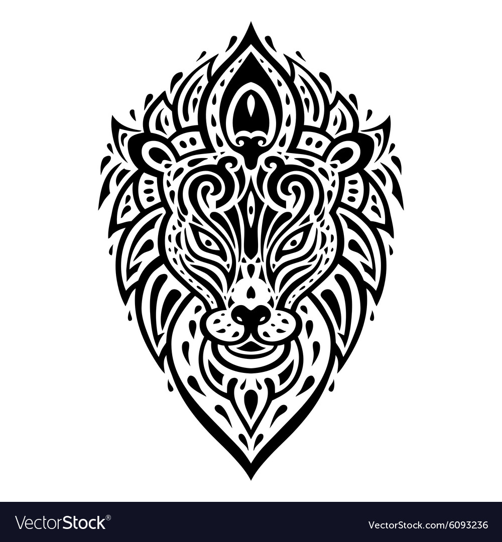 Abstract Geometry Lion Tattoo Vector Images 79 Line women decoration design elements set vector. vectorstock