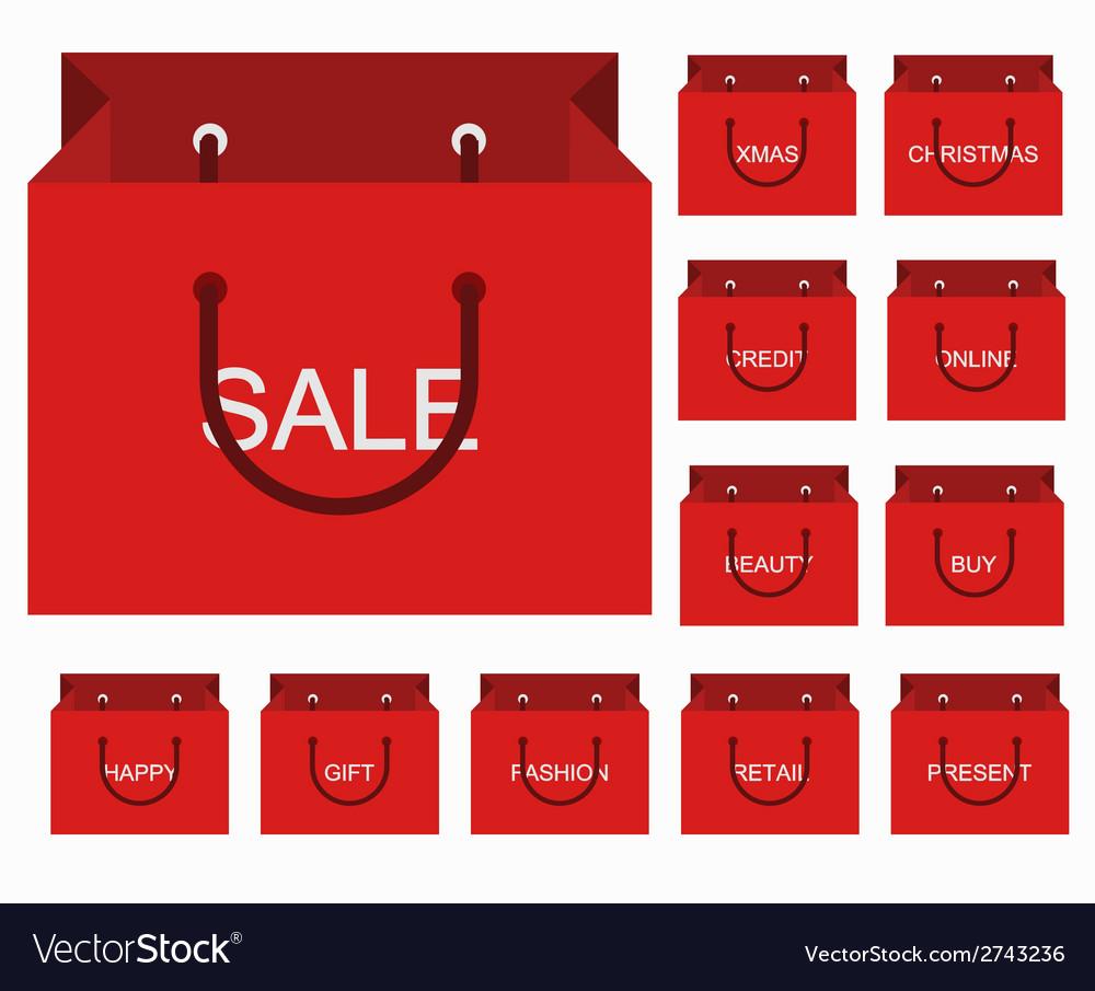 Modern shopping icons set