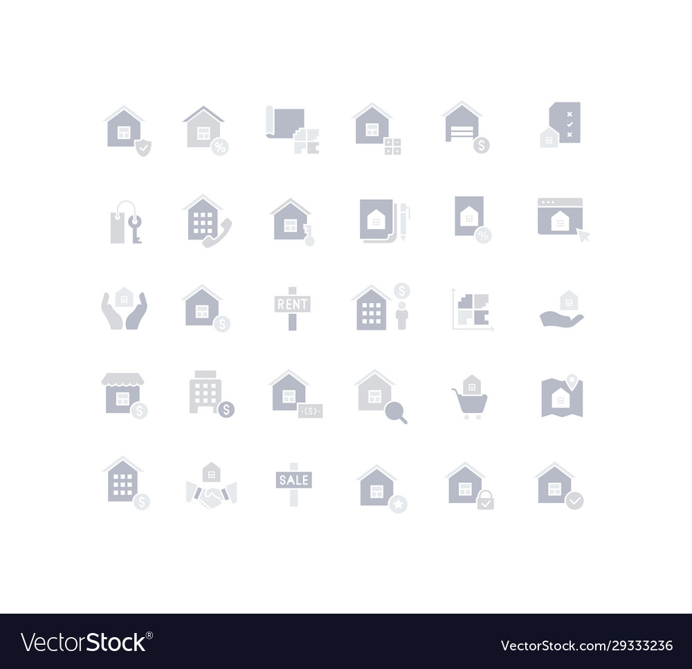 Set simple icons real estate
