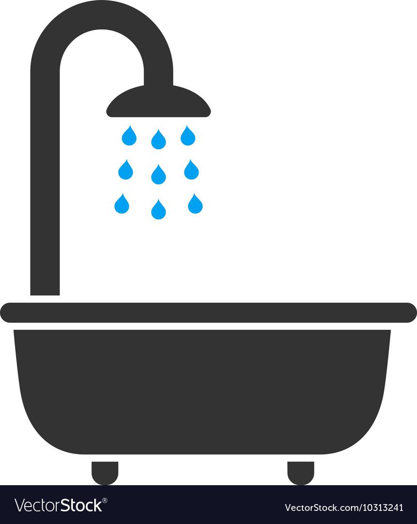 Bath Shower Flat Icon