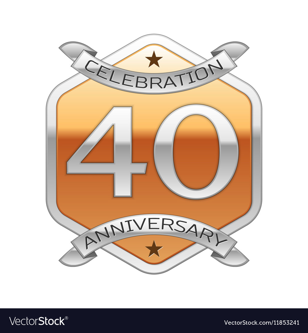 Forty years anniversary celebration silver logo