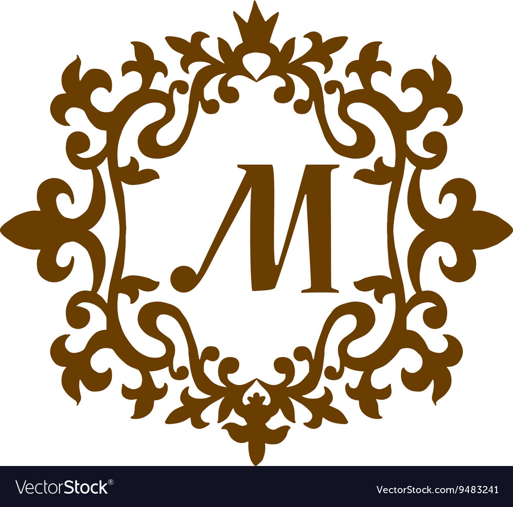 Luxury M monogram template