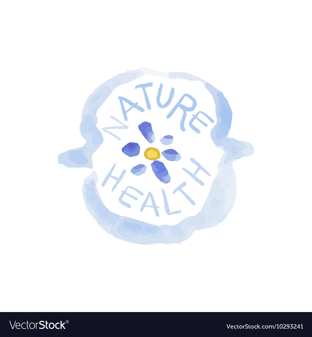 Nature Health Beauty Promo Sign vector image