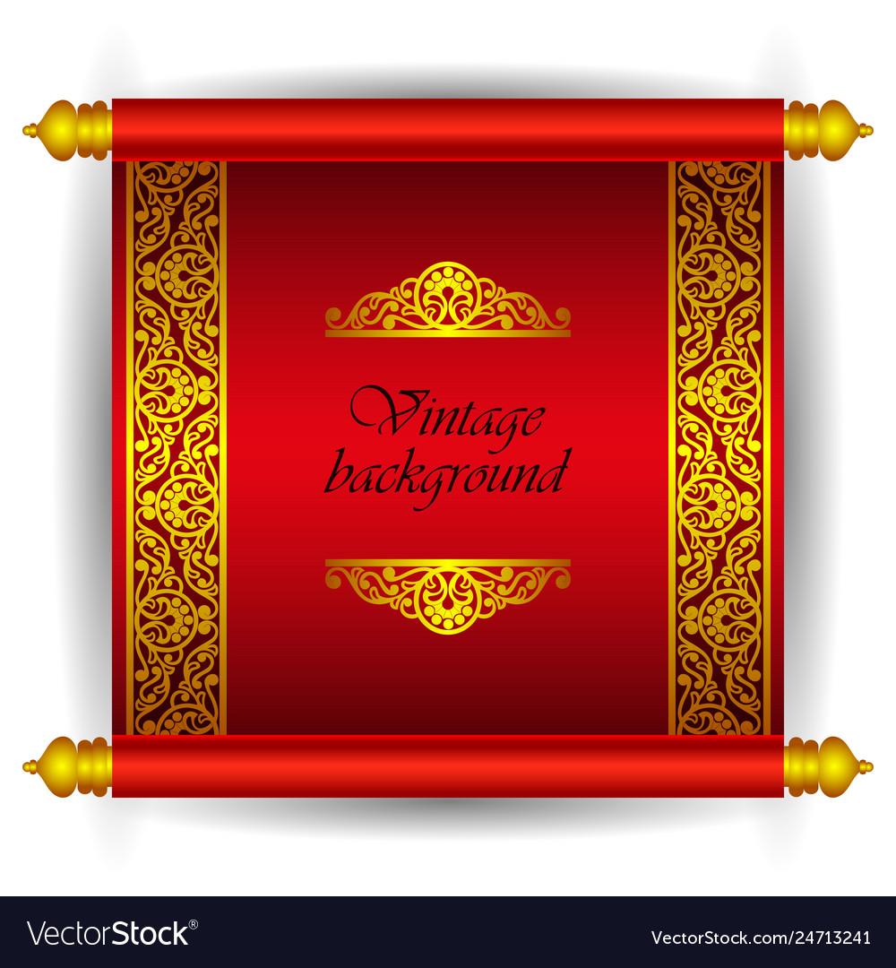 Scroll banner in royal luxury moroccan arabic styl