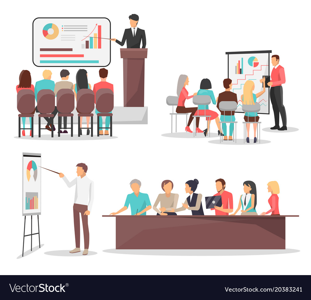 Set of business meeting icons