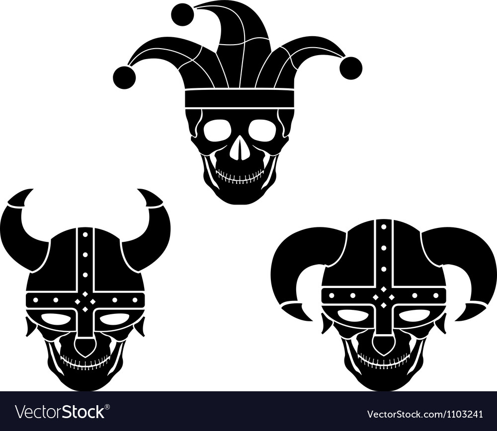 Set of evil skulls