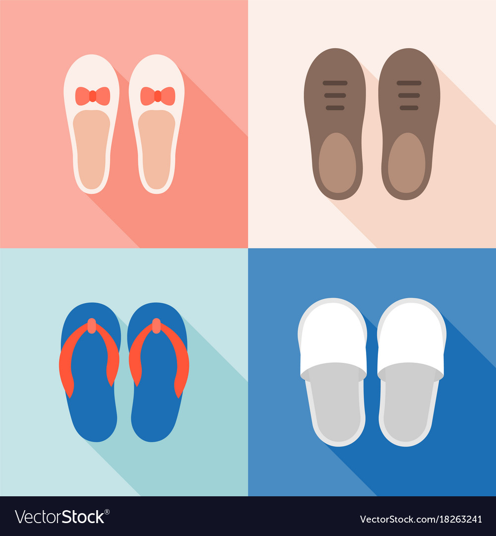 Set of shoes icon